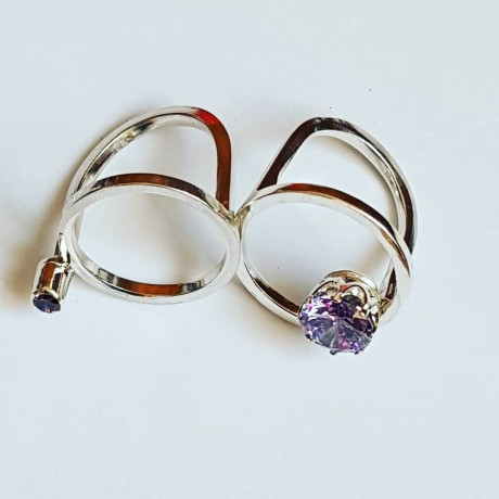 Ring made entirely by hand in Ag925 silver and lavender lavender amethyst, Bijuterii de argint lucrate manual, handmade