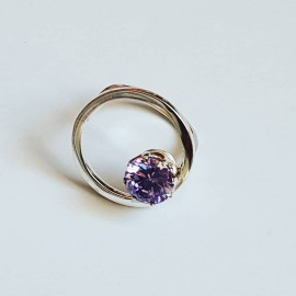 Ring made entirely by hand in Ag925 silver and lavender lavender amethyst