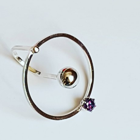 Ring made entirely by hand in Ag925 silver and Topsical amethyst, Bijuterii de argint lucrate manual, handmade