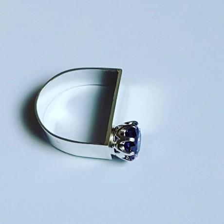 Handmade ring in solid Ag925 silver and amethyst Velvet Chime, Bijuterii de argint lucrate manual, handmade