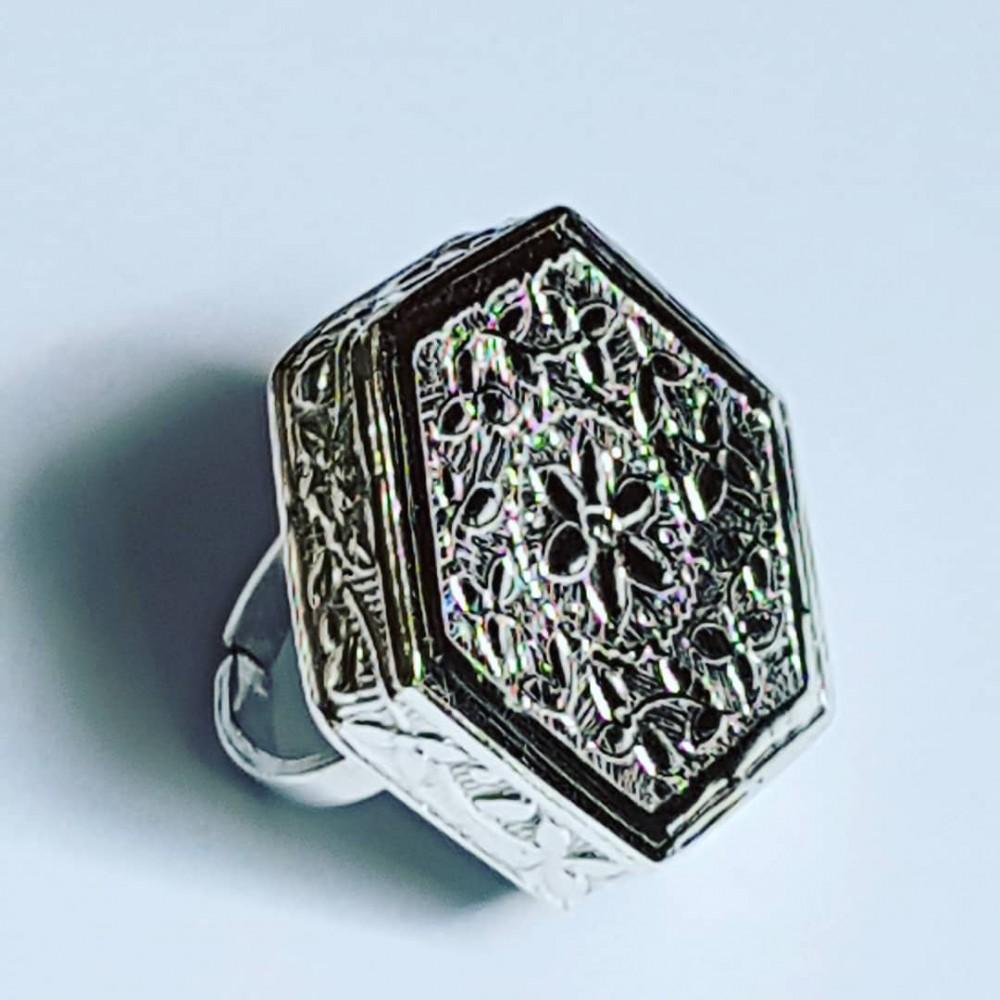 Handmade ring in handmade Ag925 solid FlowerOutlet silver