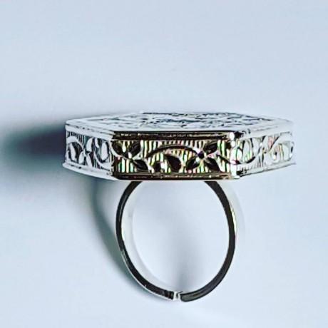 Handmade ring in handmade Ag925 solid FlowerOutlet silver, Bijuterii de argint lucrate manual, handmade