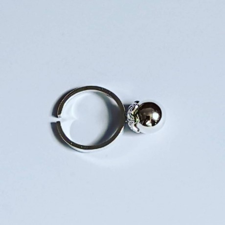 Engagement ring made entirely by hand in silver Ag925 Globulet, Bijuterii de argint lucrate manual, handmade