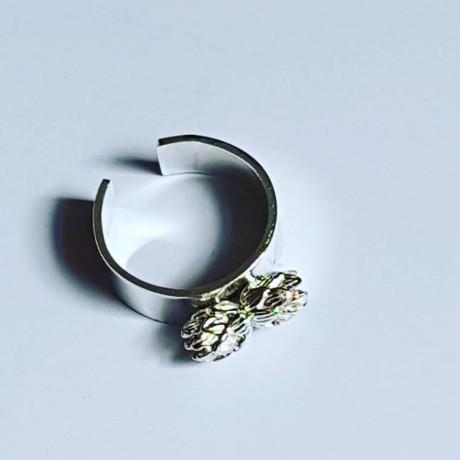 Ag925 DoubleCone silver handmade engagement ring, Bijuterii de argint lucrate manual, handmade