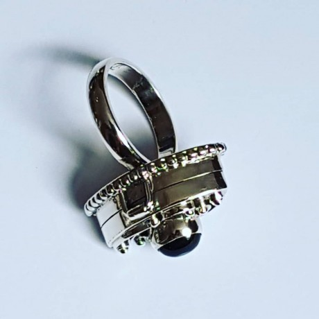 Ring made entirely by hand in Ag925 silver and natural black onyx SilverBooty, Bijuterii de argint lucrate manual, handmade