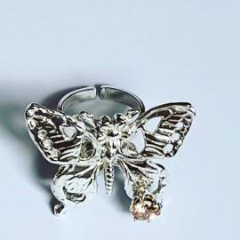 Handmade ring in Ag925 silver and citrus CracksofGlowGramaj