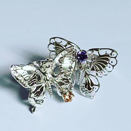 Handmade ring in Ag925 silver and citrus CracksofGlowGramaj, Bijuterii de argint lucrate manual, handmade