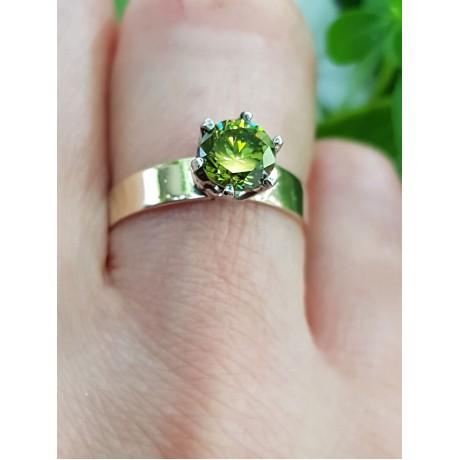 Sterling silver and gold engagement ring Love is gold, Bijuterii de argint lucrate manual, handmade