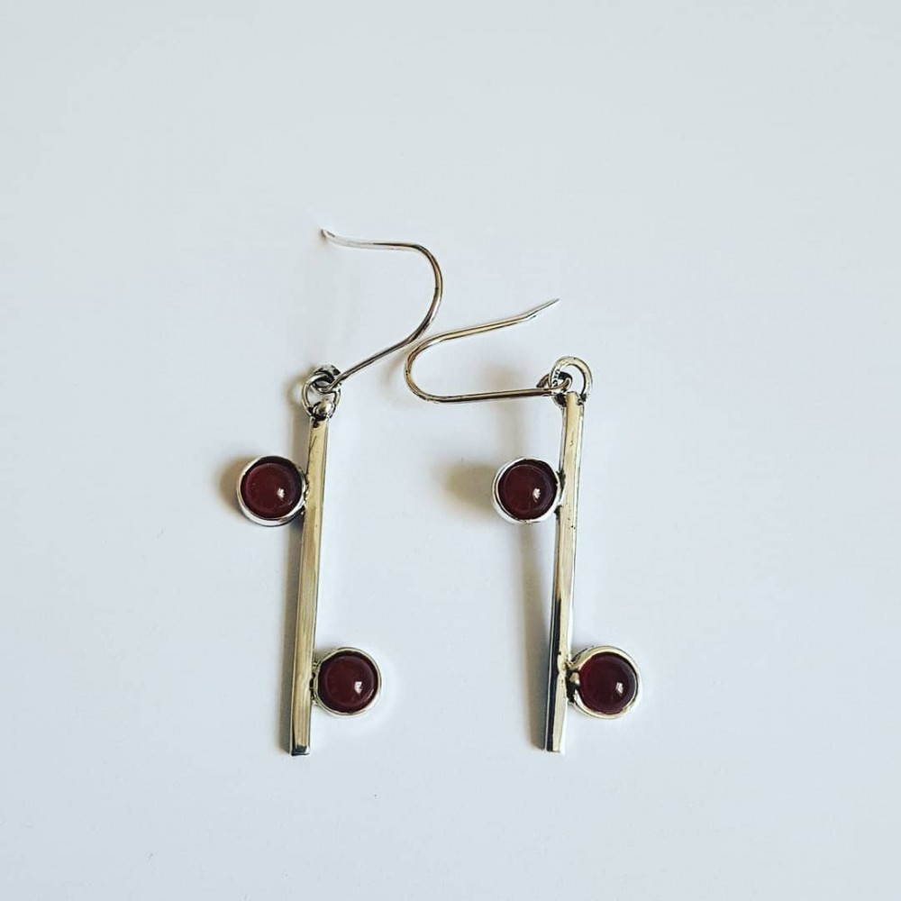 Sterling silver earrings and carnelian RedSpur