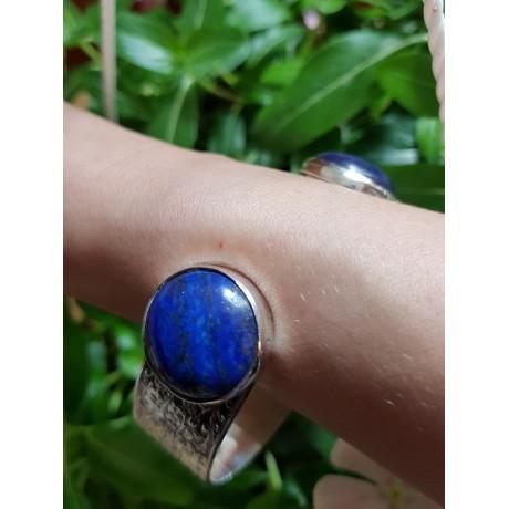 Sterling silver cuff and natural lapislazuli On a Blue Rampage, Bijuterii de argint lucrate manual, handmade