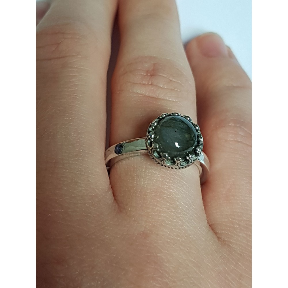Sterling silver ring ag925 with natural labradorite