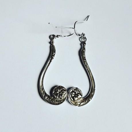 Sterling silver earrings SweetChandeliers, Bijuterii de argint lucrate manual, handmade