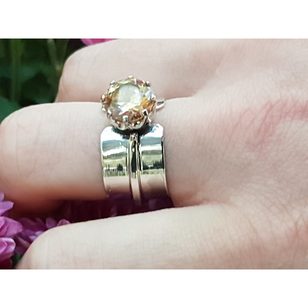 Sterling silver ring LoveFlames