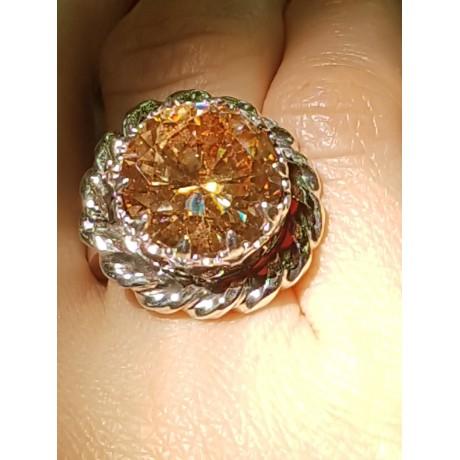 Sterling silver ring and citrine Onmymind, Bijuterii de argint lucrate manual, handmade