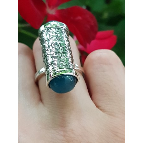 Sterling silver ring with natural aquamarine stones Come Aboard, Bijuterii de argint lucrate manual, handmade