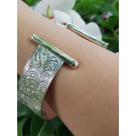 Sterling silver cuff Flower Syntax, Bijuterii de argint lucrate manual, handmade