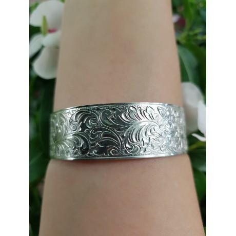 Sterling silver cuff Flower Syntax