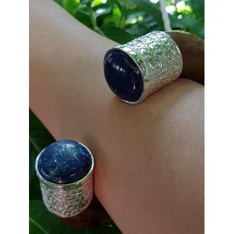 Sterling silver cuff and teak BlueinPower