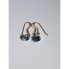 Sterling silver earrings and aquamarines2