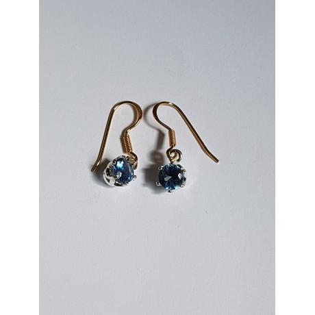 Sterling silver earrings and aquamarines2, Bijuterii de argint lucrate manual, handmade