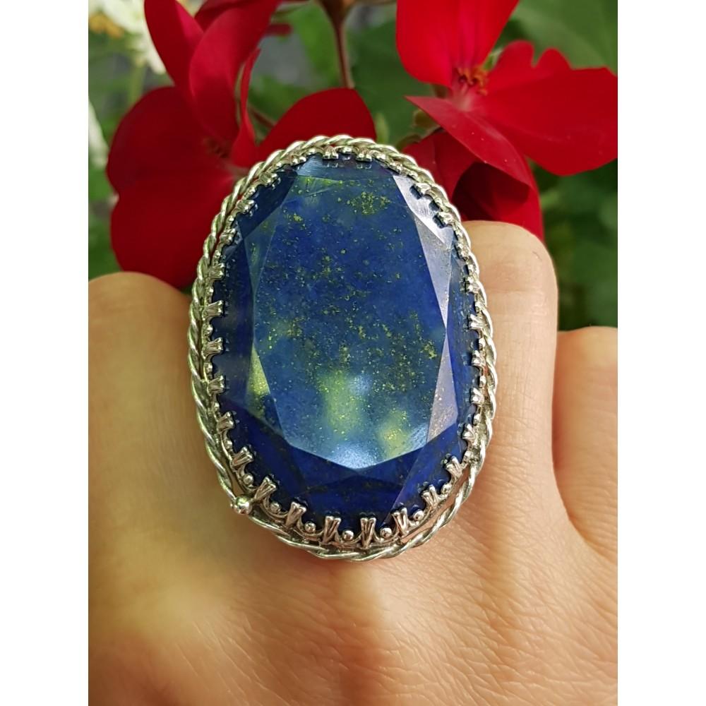 Sterling silver ring with natural lapislazuli LetmeadoreYou