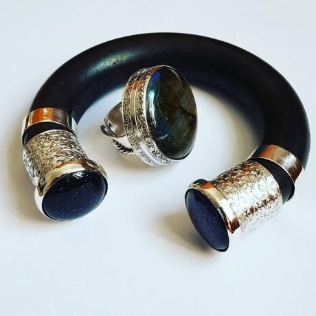 Sterling silver cuff Bigtime Boho, Bijuterii de argint lucrate manual, handmade