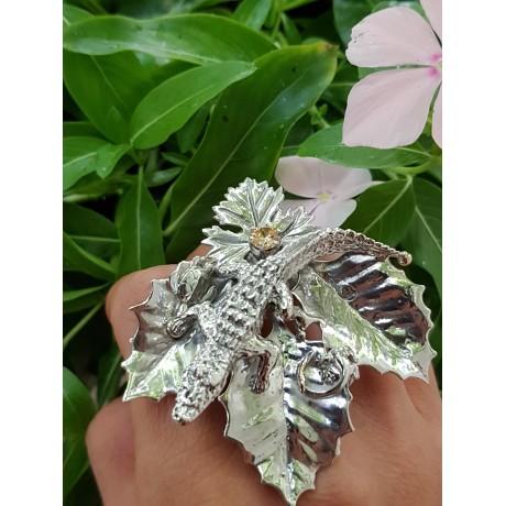 Large Sterling Silver ring Sleeping with the Gods, Bijuterii de argint lucrate manual, handmade