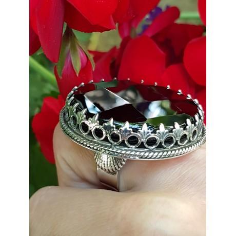 Large Sterling Silver ring and natural onyx stone BeautyAmbush, Bijuterii de argint lucrate manual, handmade