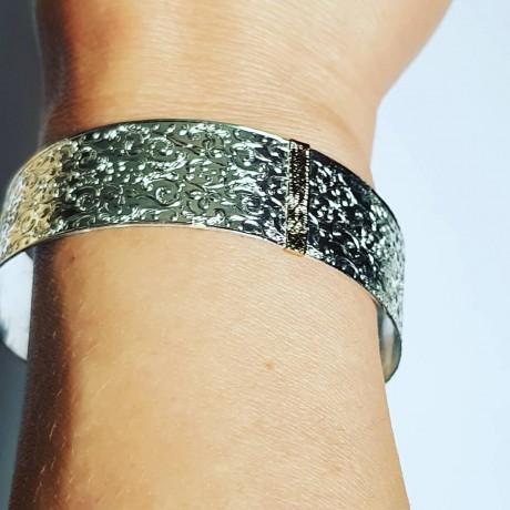 Sterling silver and gold bracelet