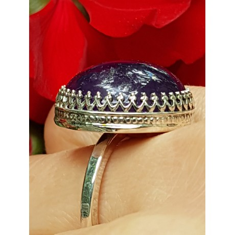 Sterling silver ring with natural amethyst PlentyofLove, Bijuterii de argint lucrate manual, handmade