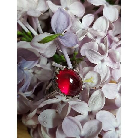 Sterling silver ring RedSquire, Bijuterii de argint lucrate manual, handmade