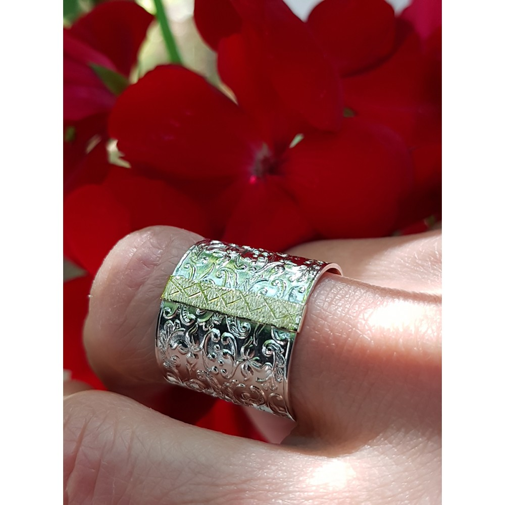 Sterling silver and gold ring LavishLushLull