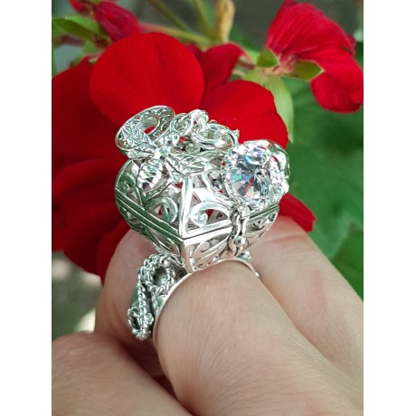 Sterling silver ring StayErect, Bijuterii de argint lucrate manual, handmade