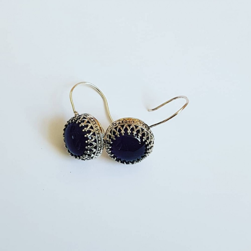 Sterling silver earrings and natural amethyst stones StandUpforMauve