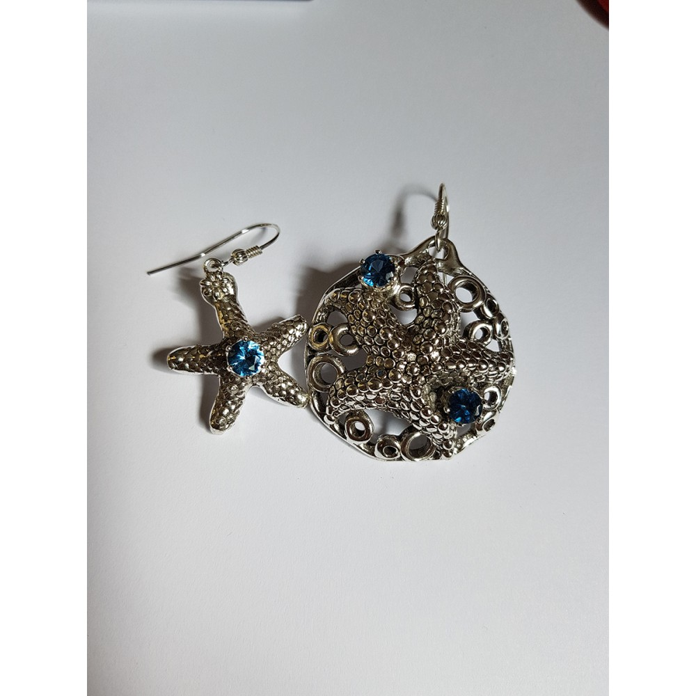 Sterling silver earrings and aquamarines StayMariner