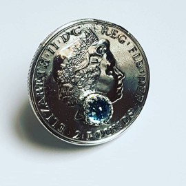 Sterling silver ring and crystal Purissima, Bijuterii de argint lucrate manual, handmade