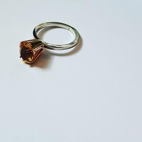 Rose gold and Sterling silver ring TalesofGold, Bijuterii de argint lucrate manual, handmade