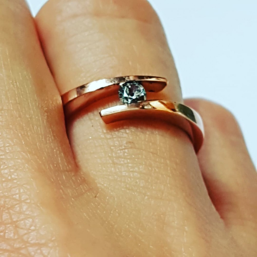 14k rose gold ring CoilingGold