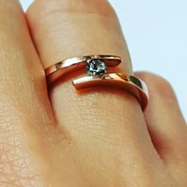14k rose gold ring CoilingGold, Bijuterii de argint lucrate manual, handmade