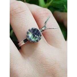 Sterling silver ring Birdsofafeather, Bijuterii de argint lucrate manual, handmade