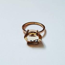 14k rose gold ring with natural citrine HighonRoseGold, Bijuterii de argint lucrate manual, handmade