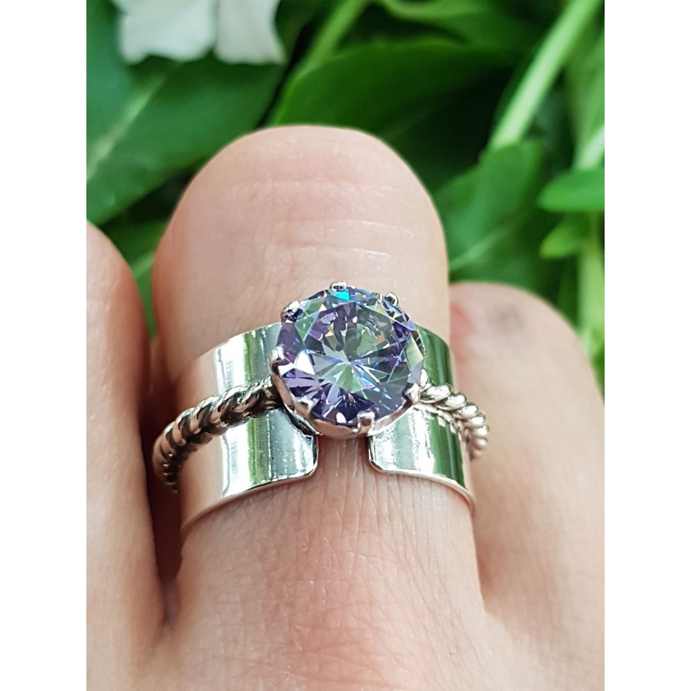 Sterling silver ring with amethyst Love at Tropics