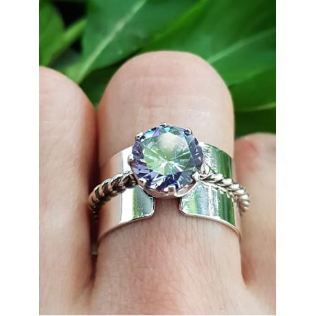 Sterling silver ring with amethyst Love at Tropics, Bijuterii de argint lucrate manual, handmade