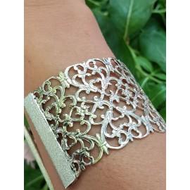 Silver cuff Lace & Grace, Bijuterii de argint lucrate manual, handmade