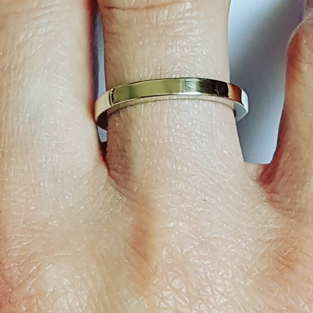 Sterling silver ring with natural and gold