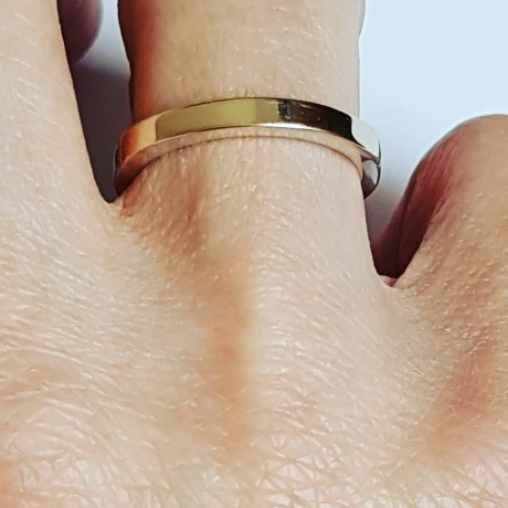 Sterling silver ring with natural and gold, Bijuterii de argint lucrate manual, handmade