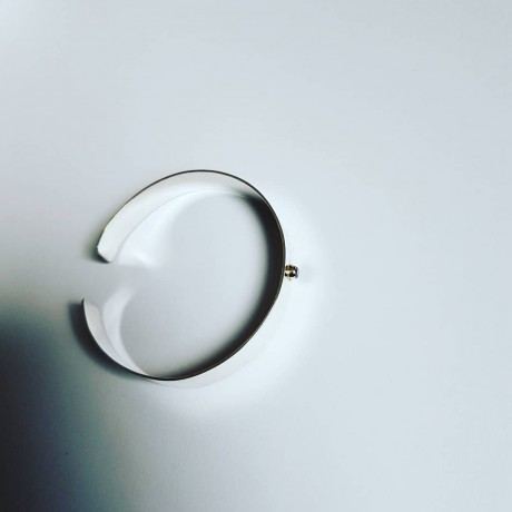 Sterlingsilver cuff LushBand, Bijuterii de argint lucrate manual, handmade