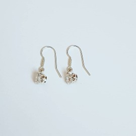 Sterling silver earrings and zirconia Glit