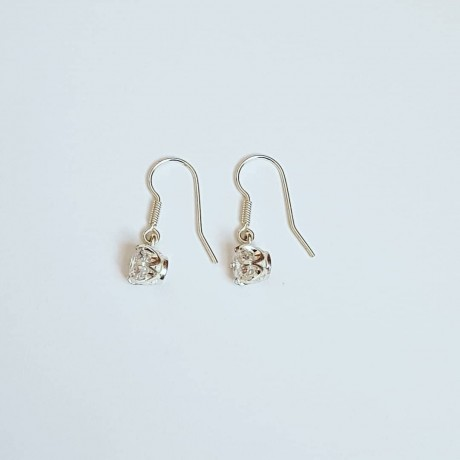Sterling silver earrings and zirconia Glit, Bijuterii de argint lucrate manual, handmade