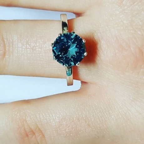 Sterling silver ring and aquamarine BluenevergoesoutofFashion, Bijuterii de argint lucrate manual, handmade